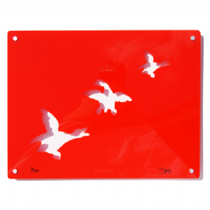 3 Ducks - Signed limited edition Acrylic Wall Art - Red
